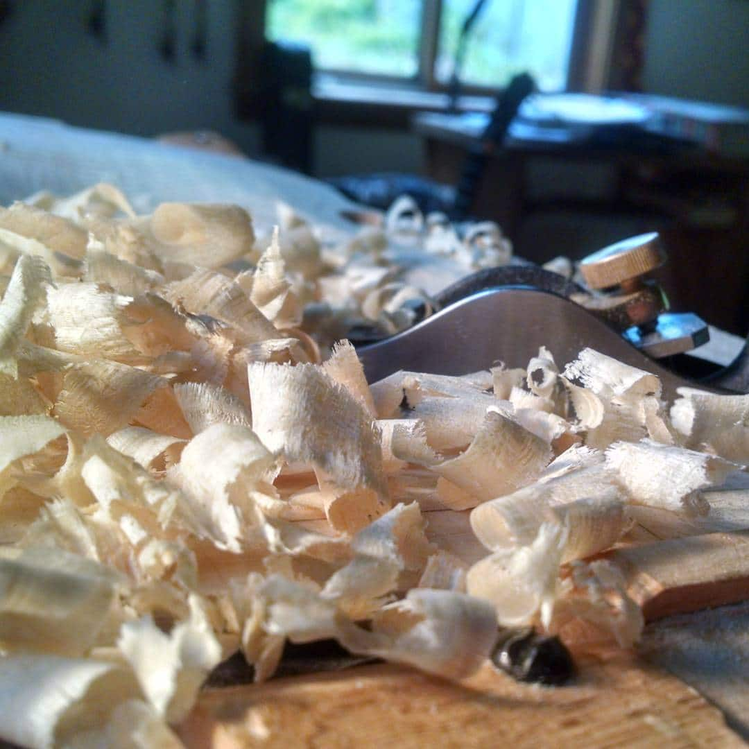 Shavings and then more shavings.  @violin players @toddgoldenbergviolins @maine